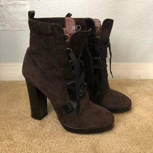 Marc by Marc Jacobs brown booties